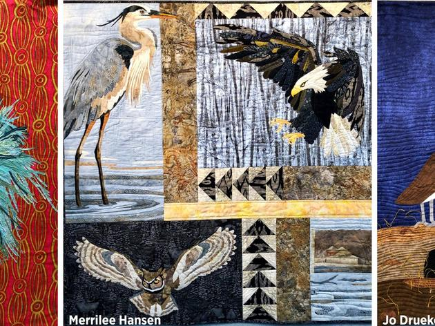 Bird-Themed Quilts on Display at the Prairie
