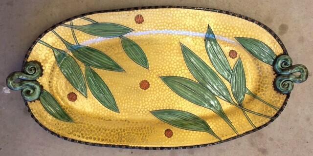 Ceramic platter by Gail Kendall