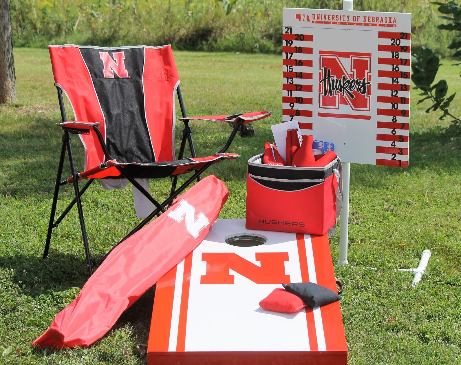 Husker recreation set of cornhole game and gifts