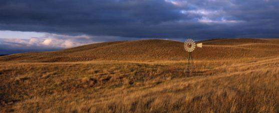 Nebraska sandhills with windmill