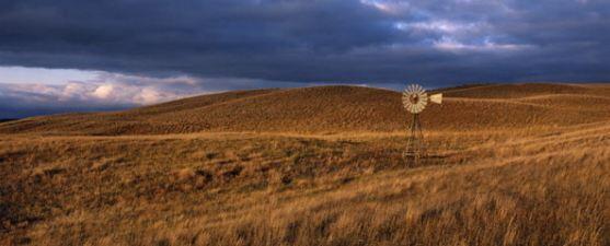 Nebraska sandhills with windmill